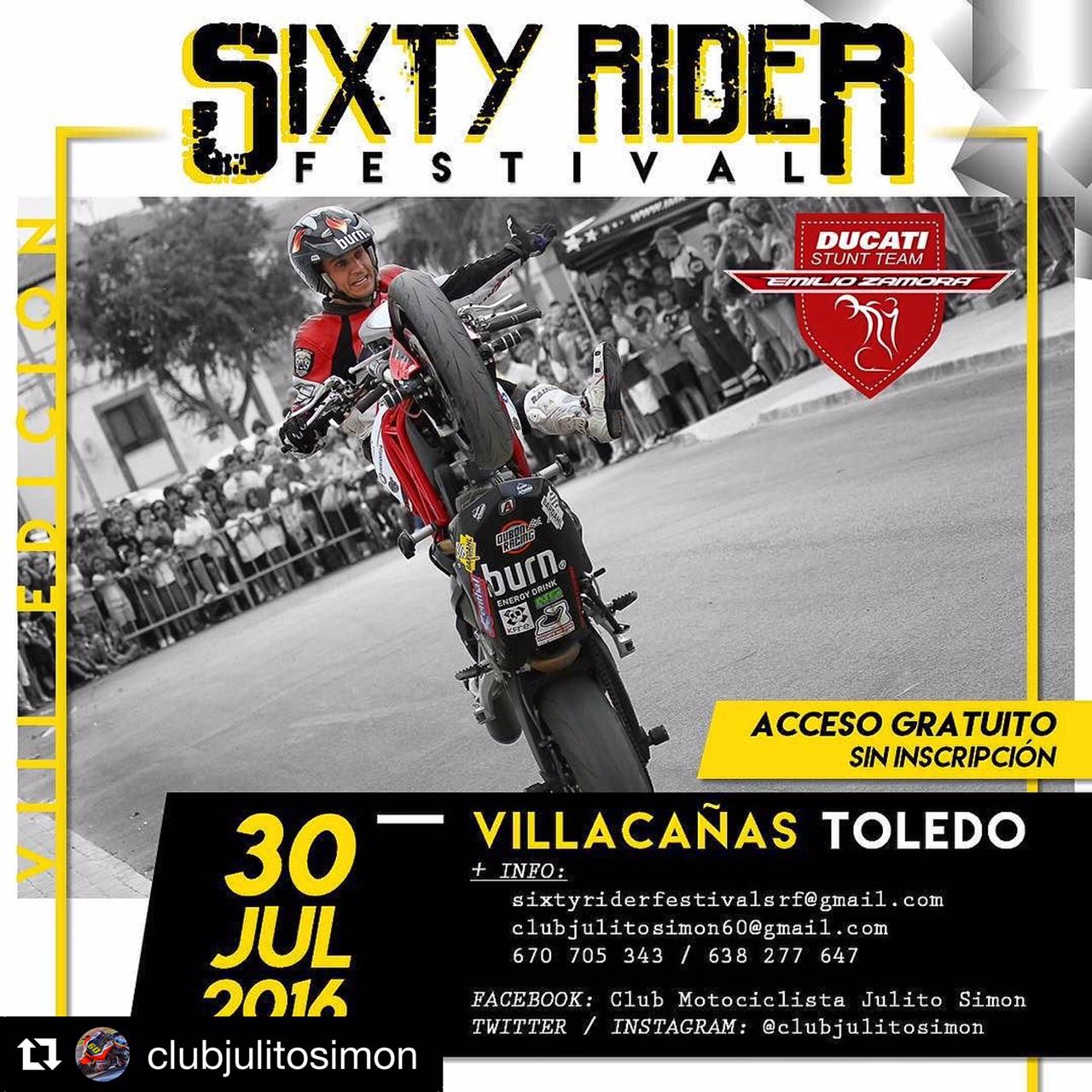 9-sixty-rider-festival_2016_julian_simon_club_emilio_zamora_ducati_stunt_team_motor_show_freestyle_moto_espectaculo_exhibicion_poster