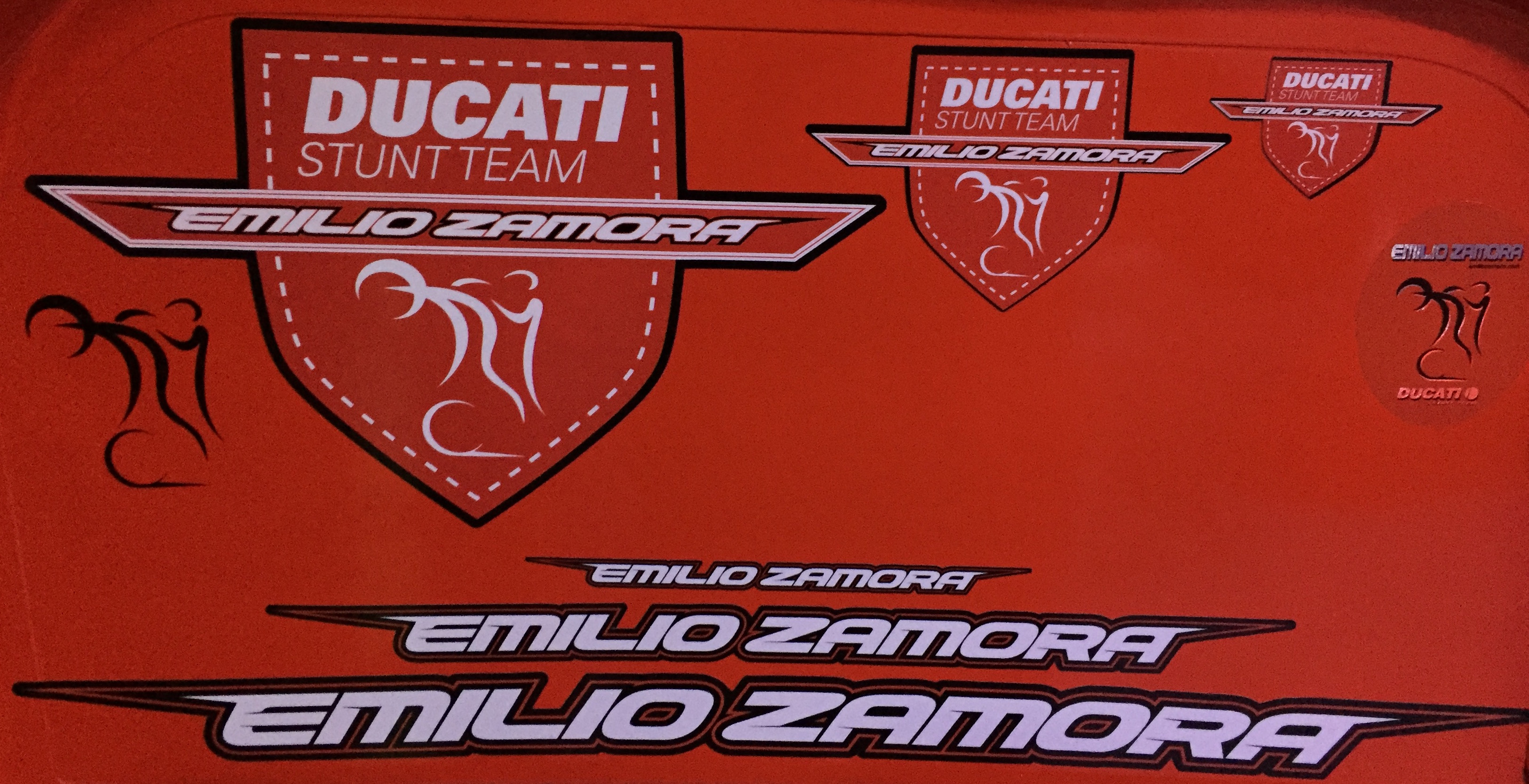 EMILIO_ZAMORA_DUCATI_STUNT_TEAM_STIKERS_KIT_MOTORCYCLE_MOTORBIKE_2017