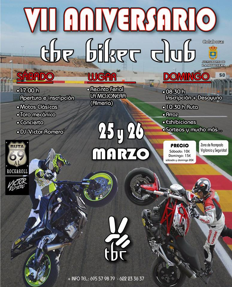 VII aniversario the biker club_emilio_Zamora_ducati_stunt_team_2017_motor_show