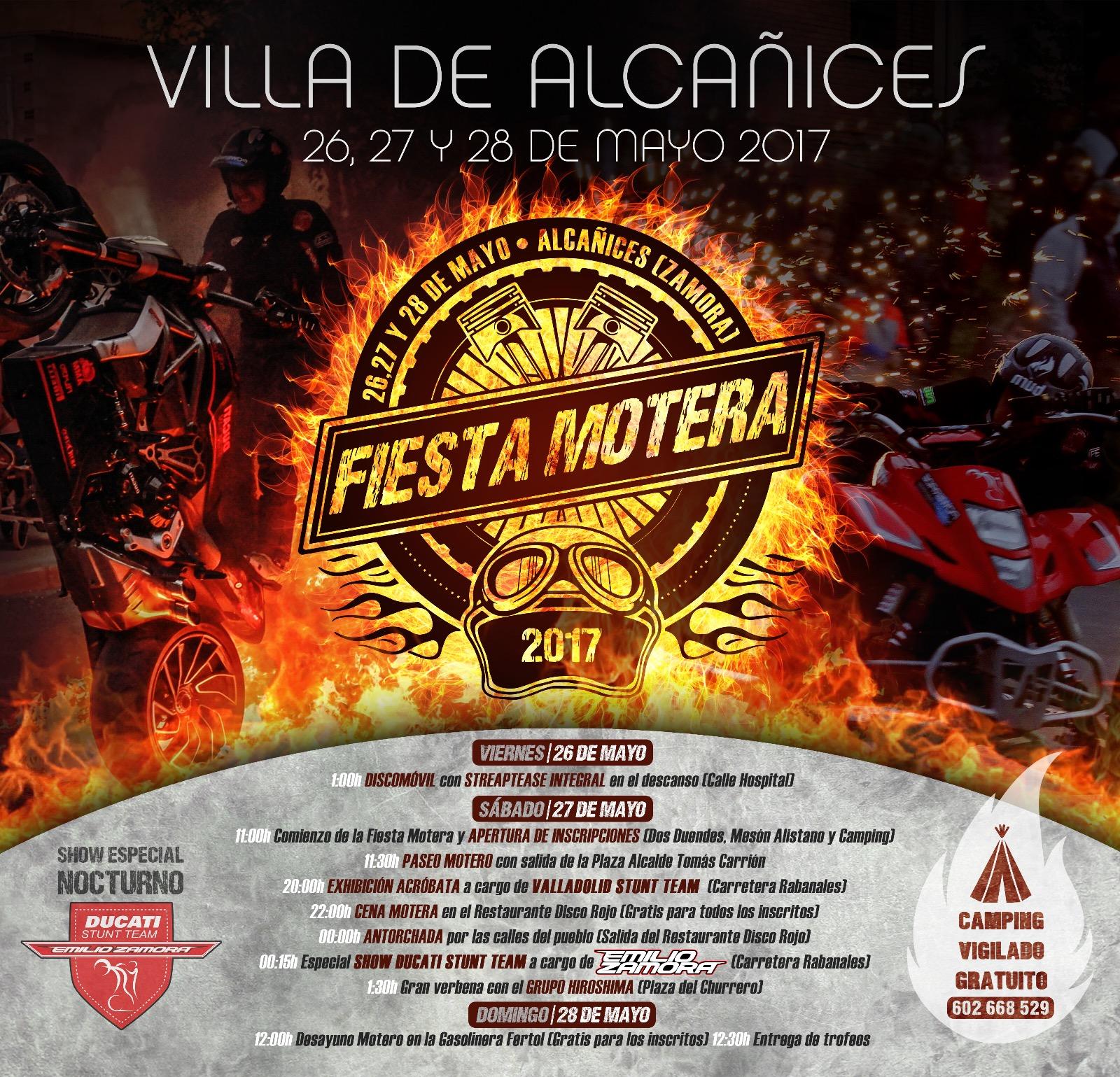 VILLA DE ALCAÑICES_ZAMORA_ALCANICES_CONCENTRACION_2017_ESPECTACULO_MOTOS_EXHIBICION_MOTOR_SHOW_EMILIO_ZAMORA_DUCATI_STUNT_TEAM_FIESTA_MOTORISTA