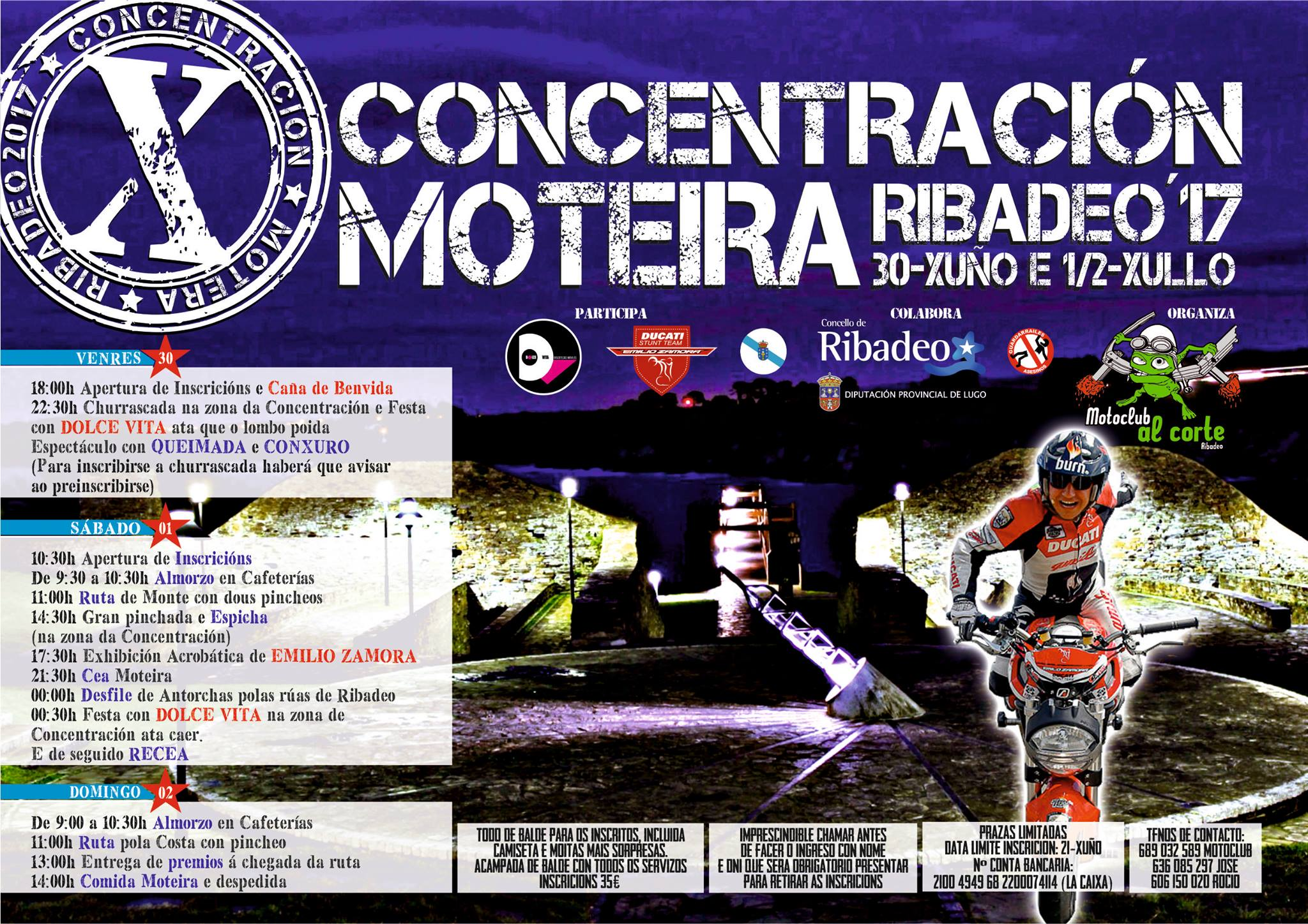 CONCENTRACION_MOTORISTA_RIBADEO_2017_LUGO_FIESTA_MOTERA_EMILIO_ZAMORA_DUCATI_STUNT_TEAM_MOTOR_SHOW_ESPECTACULO_MOTO_QUAD_COCHE_KART_CROSS_CUSTOM_LEGEND_CAR_MINI_BIKE