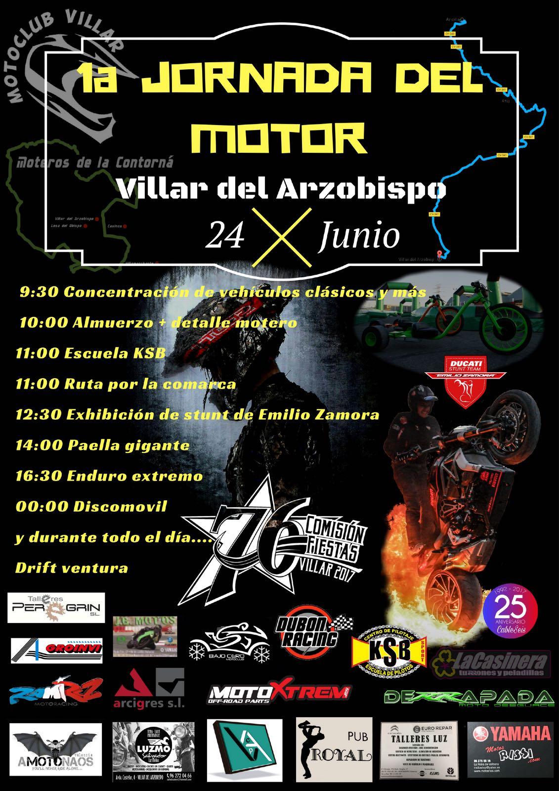 JORNADA DEL MOTOR VILLAR DEL ARZOBISPO_EMILIO_ZAMORA_DUCATI_STUNT_TEAM_MOTO_SHOW_MATINAL_CONCENTRACION_MOTORISTA_2017