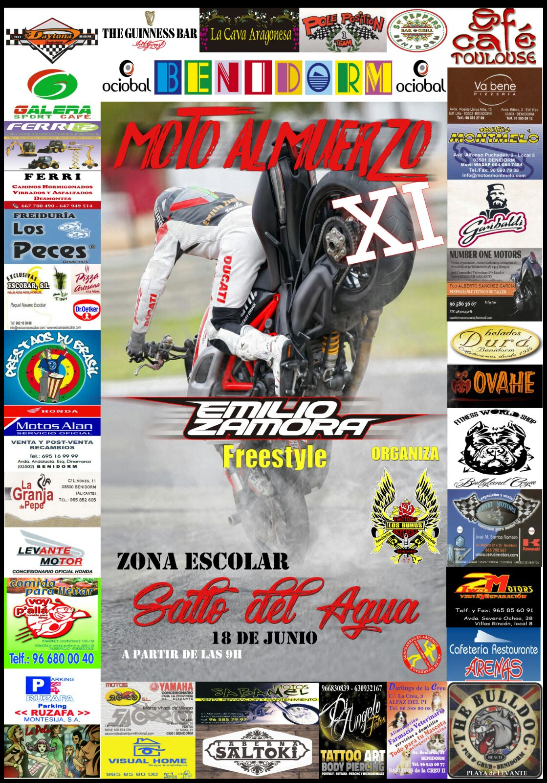 MOTOALMUERZO_BENIDORM_LOS BUHOS_XI ANIVERSARIO_EMILIO_ZAMORA_DUCATI_STUNT_TEAM_MOTOR_SHOW_ESPECTAUCLO_DIAVEL_STOPPIE_WHEELIE_ONFIRE_2017