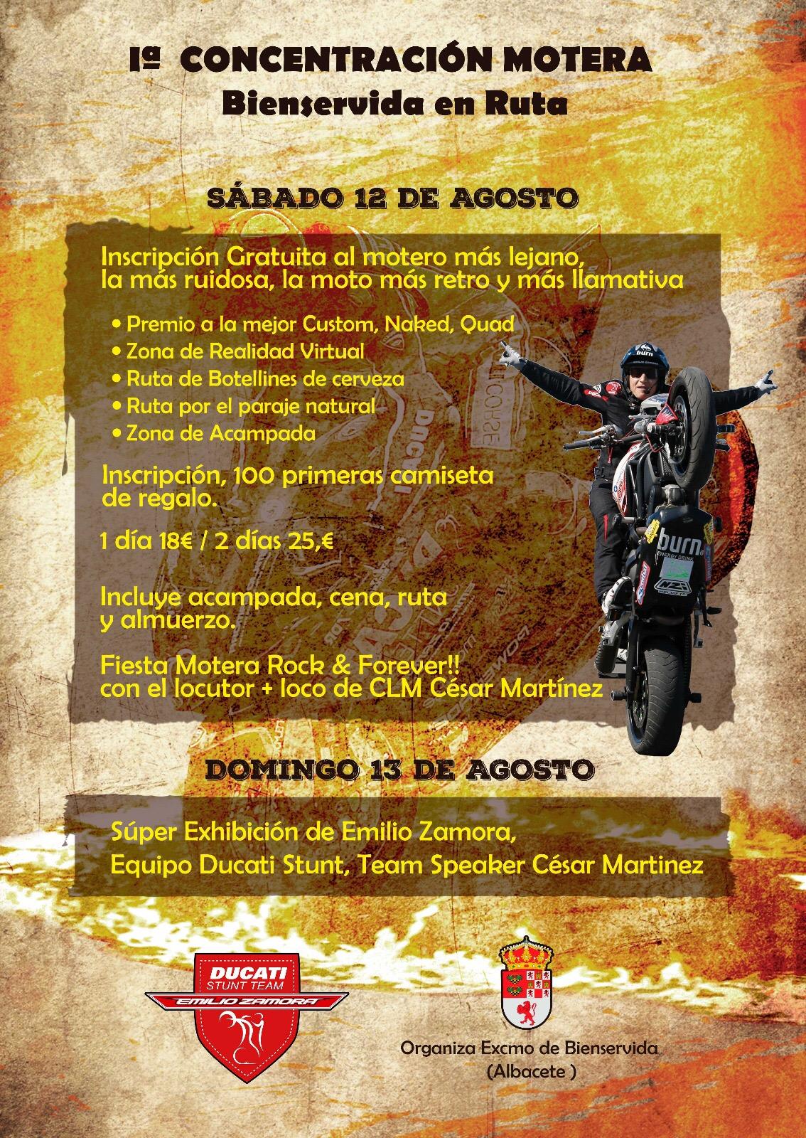 CONCENTRACION MOTERA BIENSERVIDA ALBACETE_EMILIO_ZAMORA_DUCATI_STUNT_TEAM_MOTOCICLISMO_MOTOR_SHOW_QUAD_MOTO_ESPECTACULO_MINIMOTO_LEGEND_CAR_KART_CORSS_DRIFT_CABALLITO