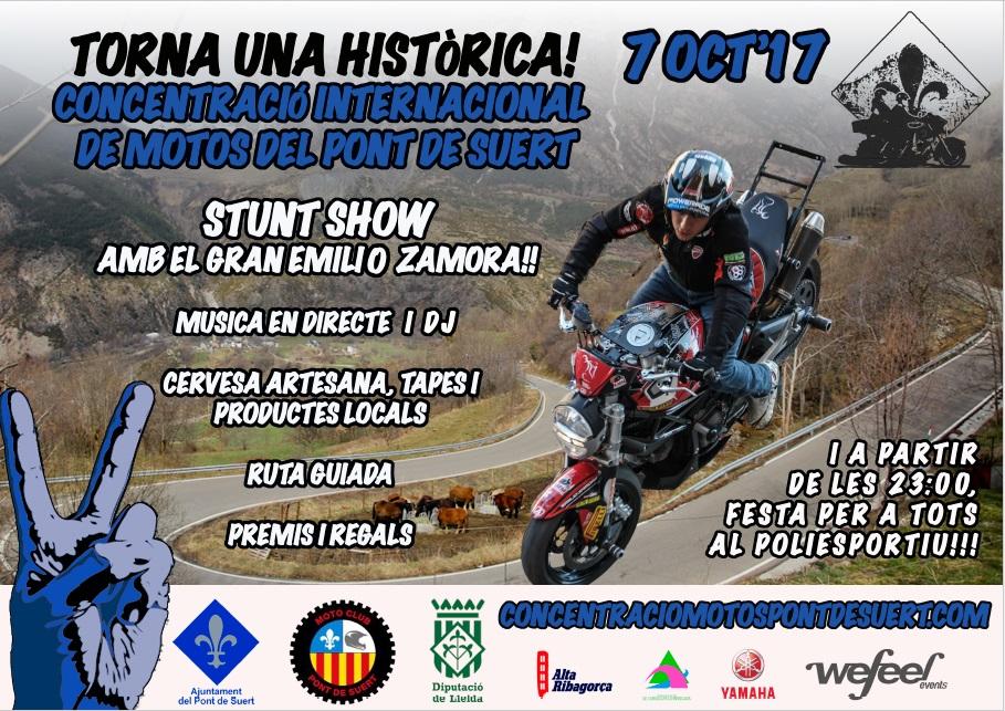 CONCENTRACION MOTORISTA EL PONT DE SUERT_LLEIDA_EMILIO_ZAMORA_DUCATI_STUNT_TEAM_MOTOR SHOW_EXHIBICION_ESPECTACULO_2017
