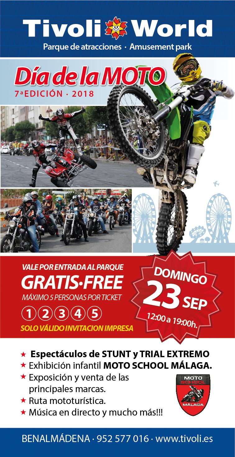 Día de la moto 2018 - cartel, invitación y credenciales
